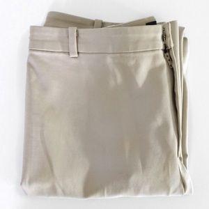 ELLEN TRACY Khaki Trousers Tan Slacks Size 6